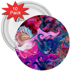 Background Art Abstract Watercolor 3  Buttons (10 Pack)