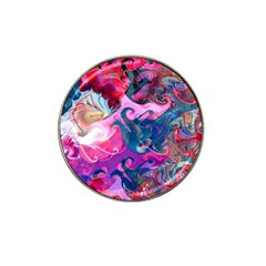 Background Art Abstract Watercolor Hat Clip Ball Marker (4 Pack)