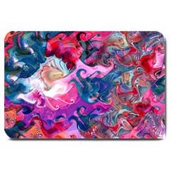 Background Art Abstract Watercolor Large Doormat