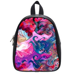 Background Art Abstract Watercolor School Bag (small)