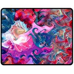 Background Art Abstract Watercolor Fleece Blanket (medium)