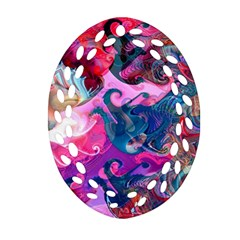 Background Art Abstract Watercolor Oval Filigree Ornament (two Sides)