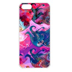 Background Art Abstract Watercolor Apple Iphone 5 Seamless Case (white)