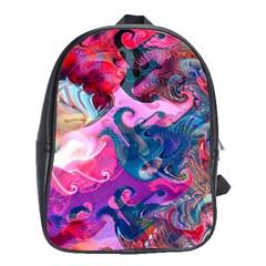 Background Art Abstract Watercolor School Bag (xl) by Nexatart