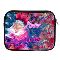 Background Art Abstract Watercolor Apple Ipad 2/3/4 Zipper Cases