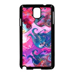 Background Art Abstract Watercolor Samsung Galaxy Note 3 Neo Hardshell Case (black)