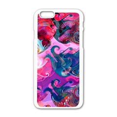 Background Art Abstract Watercolor Apple Iphone 6/6s White Enamel Case by Nexatart