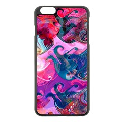 Background Art Abstract Watercolor Apple Iphone 6 Plus/6s Plus Black Enamel Case