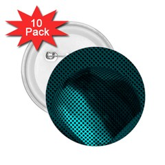 Background Sphere Ball Metal Blue 2 25  Buttons (10 Pack)  by Nexatart