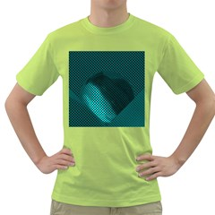 Background Sphere Ball Metal Blue Green T Shirt