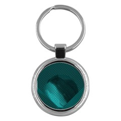 Background Sphere Ball Metal Blue Key Chains (round)  by Nexatart