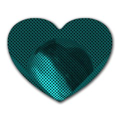 Background Sphere Ball Metal Blue Heart Mousepads by Nexatart