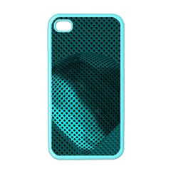 Background Sphere Ball Metal Blue Apple Iphone 4 Case (color)
