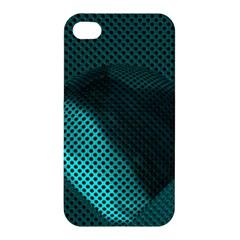 Background Sphere Ball Metal Blue Apple Iphone 4/4s Premium Hardshell Case