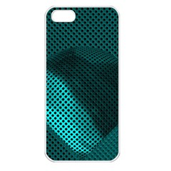 Background Sphere Ball Metal Blue Apple Iphone 5 Seamless Case (white)