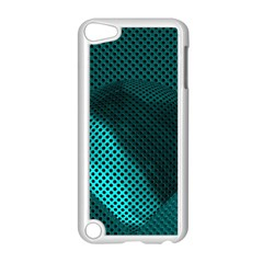 Background Sphere Ball Metal Blue Apple Ipod Touch 5 Case (white)
