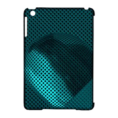 Background Sphere Ball Metal Blue Apple Ipad Mini Hardshell Case (compatible With Smart Cover) by Nexatart