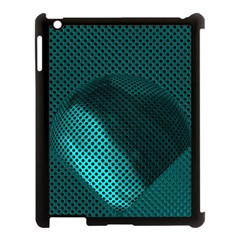 Background Sphere Ball Metal Blue Apple Ipad 3/4 Case (black)