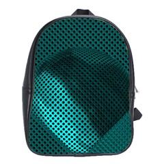Background Sphere Ball Metal Blue School Bag (xl) by Nexatart