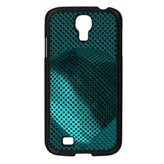 Background Sphere Ball Metal Blue Samsung Galaxy S4 I9500/ I9505 Case (black)