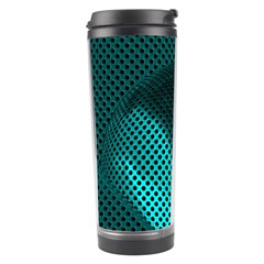 Background Sphere Ball Metal Blue Travel Tumbler