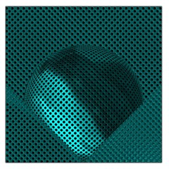 Background Sphere Ball Metal Blue Large Satin Scarf (square) by Nexatart