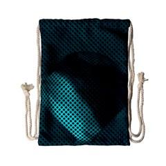 Background Sphere Ball Metal Blue Drawstring Bag (small)
