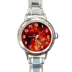Background Art Abstract Watercolor Round Italian Charm Watch by Nexatart