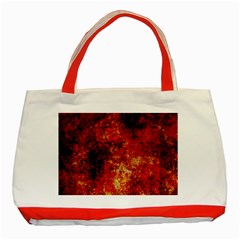 Background Art Abstract Watercolor Classic Tote Bag (red)