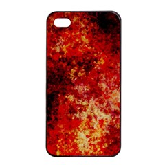 Background Art Abstract Watercolor Apple Iphone 4/4s Seamless Case (black) by Nexatart