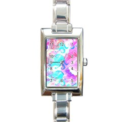 Background Art Abstract Watercolor Pattern Rectangle Italian Charm Watch
