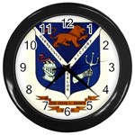 USS Jesse L Brown Emb Wall Clock (Black)