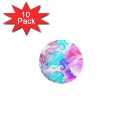 Background Art Abstract Watercolor Pattern 1  Mini Magnet (10 Pack)