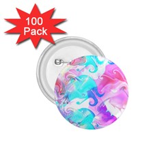 Background Art Abstract Watercolor Pattern 1 75  Buttons (100 Pack)