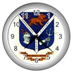 USS Jesse L Brown Emb Wall Clock (Silver)
