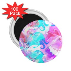 Background Art Abstract Watercolor Pattern 2 25  Magnets (100 Pack)