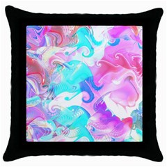 Background Art Abstract Watercolor Pattern Throw Pillow Case (black)