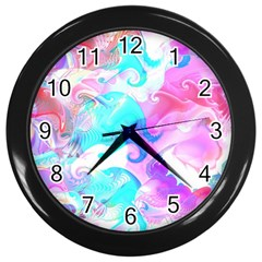 Background Art Abstract Watercolor Pattern Wall Clocks (black) by Nexatart