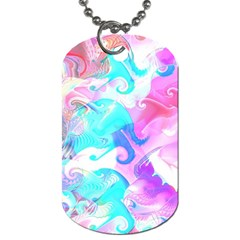 Background Art Abstract Watercolor Pattern Dog Tag (two Sides)