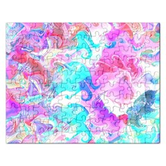 Background Art Abstract Watercolor Pattern Rectangular Jigsaw Puzzl