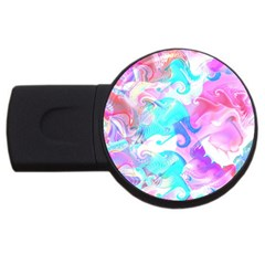Background Art Abstract Watercolor Pattern Usb Flash Drive Round (4 Gb)