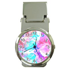 Background Art Abstract Watercolor Pattern Money Clip Watches
