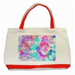 Background Art Abstract Watercolor Pattern Classic Tote Bag (red)
