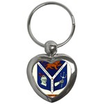 USS Jesse L Brown Emb Key Chain (Heart)