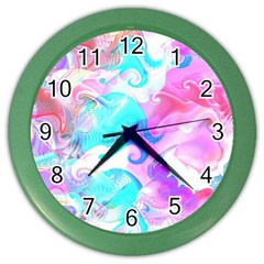 Background Art Abstract Watercolor Pattern Color Wall Clocks