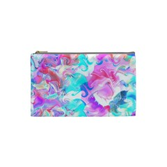 Background Art Abstract Watercolor Pattern Cosmetic Bag (small)