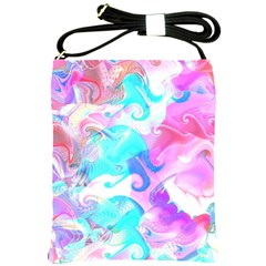 Background Art Abstract Watercolor Pattern Shoulder Sling Bags by Nexatart