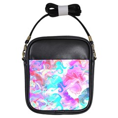 Background Art Abstract Watercolor Pattern Girls Sling Bags by Nexatart