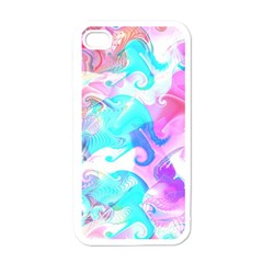 Background Art Abstract Watercolor Pattern Apple Iphone 4 Case (white)