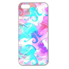 Background Art Abstract Watercolor Pattern Apple Seamless Iphone 5 Case (clear)